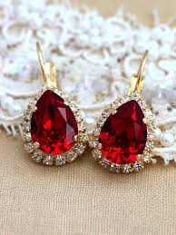 ruby drop earrings ruby earringsruby swarovski drop earringsruby drop