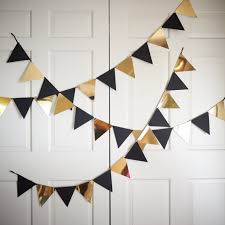 black and gold party decorations bunting banner for black and gold party decor ships in 1 3
