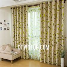 Green And Beige Curtains Beige Casual And Green Leaf Discount Blackout Organic Window Curtains