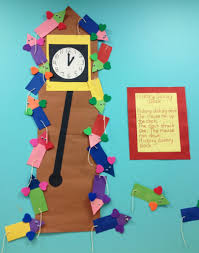 bulletin board idea hickory dickory dock children create the