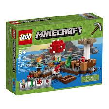 amazon com lego minecraft the mushroom island 21129 toys u0026 games