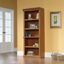Barrister Bookcase Door Slides Sauder Orchard Hills Library Bookcase Carolina Oak Finish