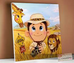 deco chambre enfant jungle tableaux deco chambre jungle pour garçon vente tableau enfant et