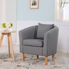 Dining Tub Chairs Deluxe Fabric Tub Chair Armchair Dining Living Room Office Hotel