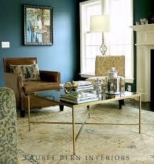 benjamin moore van deusen blue in a family room we did a few years