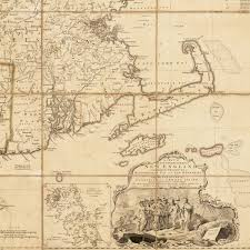 Map Of New England Colonies by Rare Early State Of Jefferys U0027