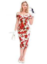 Candy Galore U0027 Pink Faux Fur 50 U0027s Pencil Dress British Retro