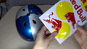 red bull motocross helmets how to make a red bull helmet youtube