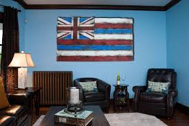 weathered wood one of a kind 3d hawaii state flag wooden vintage