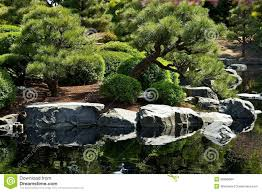 Japanese Garden Walls by Japanese Garden With Pond Stock Images Image 26999664