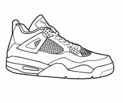 jordan shoe coloring pages for kids and for adults coloring home