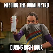 Rush Meme - needing the dubai metro during rush hour dubaiproblems image
