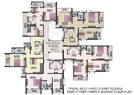 Floor Plan Blueprint Interior Architecture Excellent Typical Stilt Or Partly Floor