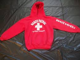 beach patrol seaside oregon hooded sweatshirt red youth medium