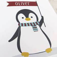 cute christmas penguin personalised xmas card by wink design