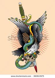 eagle snake color stock vector 382613575 shutterstock