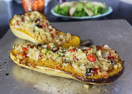 vegan thanksgiving recipes stuffed butternut squash peaceful