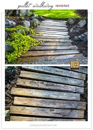 How To Build A Shed Out Of Wooden Pallets by Pallet Wood Walkway All Prettied Up Again Funky Junk