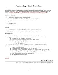 Margins Of Resume Resume Formatting Guidelines Resume Aesthetics Font Margins And