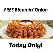 free bloomin at outback steakhouse today only