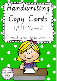 subjects english handwriting handwriting copy cards qld