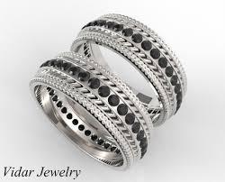 black diamonds rings images Black diamonds matching rings vidar jewelry unique custom jpg