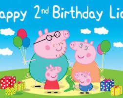 peppa pig birthday found on from etsy peppa pig amari s third birthday