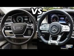 audi l8 2018 audi a8 l vs mercedes s class 2018 interiors