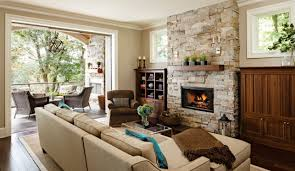 family rooms fireplaces beige wall paint color modern fur rug