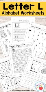 letter l worksheets alphabet series easy peasy learners