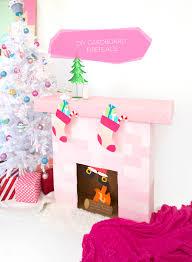 diy cardboard box fireplace damask love