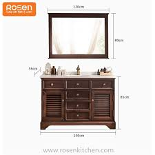 china 60 inch double bathroom vanity sinks with cabinets for sale