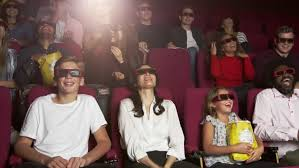 comedy film video clip audience in cinema watching 3d comedy film shot on r3d stock footage