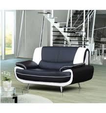 canap design noir et blanc canapé design 2 places en simili cuir noir et blanc