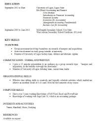 No Job Experience Resume Sample Report Writing Format For High Students No Work Experience