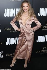 tanya mityushina suffers a nip slip at john wick premiere daily