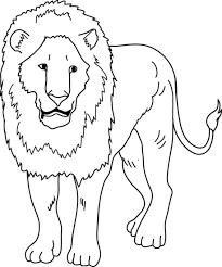lion coloring free clip art