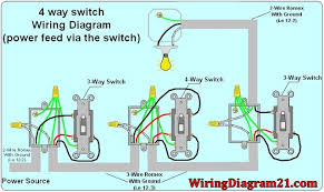 4 way light switch wiring diagram house electrical within how to