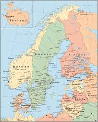 Map Of Europe And Capitals by Map Of Scandinavia Scandinavian Tours