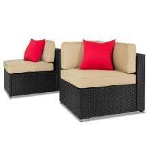 Amazoncom  Best ChoiceProducts  Piece Outdoor Patio Garden - Wicker sofa sets