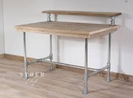 bureau of met steigerhouten bureau met opzetstuk bureaus en speeltafels