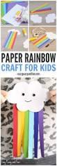 cute paper rainbow kid craft easy peasy and fun