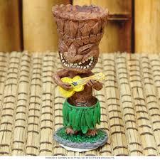 tiki god ukulele dashboard hula doll hawaiian decor
