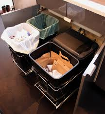Under Kitchen Sink Pull Out Storage by Under Sink Trash Can Pull Out Home Design Ideas