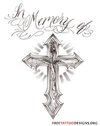 rip cross memorial tattoo design photo 1 2017 real photo
