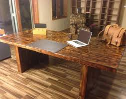 Home Office Desks Wood Excellent Reclaimed Wood Office Desk Custom Software Style New At