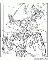 avengers battle coloring page free coloring pages 2 oct 17 02