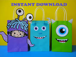 Monster Inc Decorations Monsters Inc Party Favor Bags Monsters Inc Monsters University