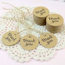 wedding tags dxhycc 100pcs thank you wedding brown kraft paper tag