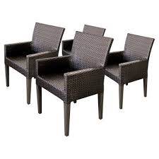 Outdoor Dining Area With No Chairs Tk Classics Napa Outdoor Dining Chair Set Of 4 With 8 Cushion